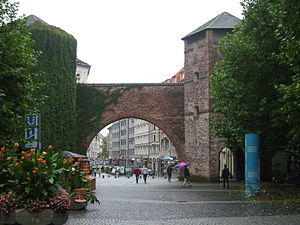 Munich - Sendlinger Tor seen from Sendlinger-T...