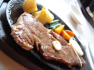 Sirloin steak of Tajima beef.