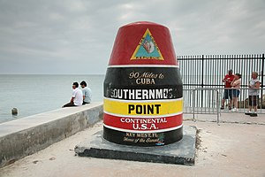 90mi to Cuba marker at the so called southernm...
