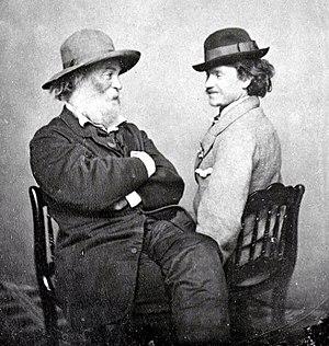 Walt Whitman and Peter Doyle, circa 1869