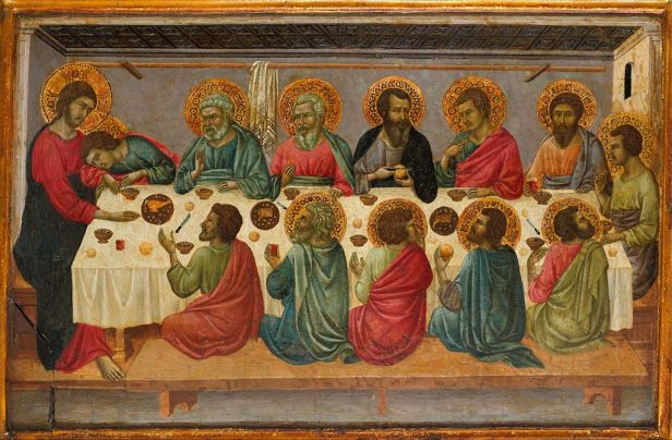 1г Ugolino di Nerio. The Last Supper Metropolitan mus. N-Y