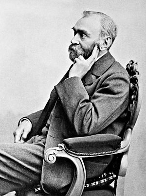 Portrait of Alfred Nobel (1833-1896) by Gösta ...
