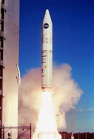 Athena 1 rocket launching from Kodiak Island i...