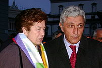 Rosa Russo Iervolino with Antonio Bassolino