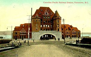 Postcard of the Canadian Pacific Railway stati...