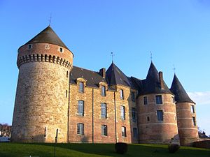 English: Medieval Castle of Gacé, Normandy