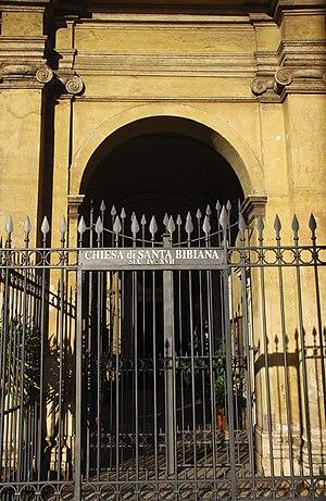 the Church of Santa Bibiana, Rome, Italy. Faca...