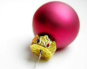 Christbaumkugel Svenska: En typisk julgranskula