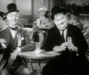 English: Stan Laurel and Oliver Hardy in the o...