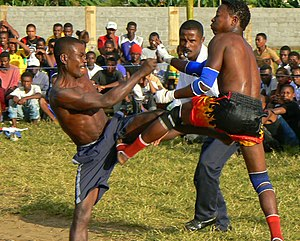 English: Moraingy, a traditional sport in Mada...