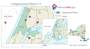 Map of Rangel's congressional district