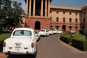 Official Hindustan Ambassador cars waiting in ...