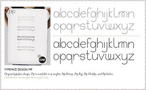 English: Typeface design by studio eine.