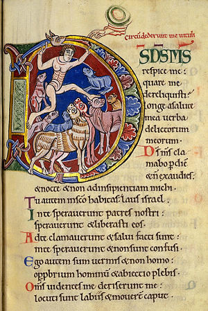Psalm 21, Initial D. In: Albani-Psalter