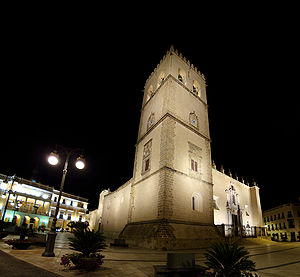 The Badajoz Cathedral, built between 1230-1276.