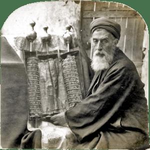 Samaritan High Priest and Old Pentateuch, 1905