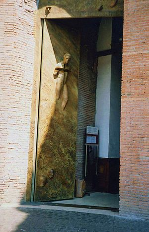 Santa Maria degli Angeli et dei Martiri Rome. Door