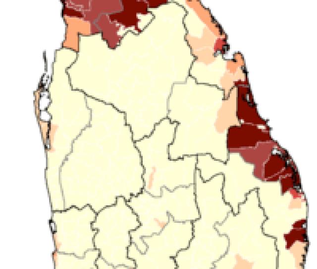 Distribution Of Sri Lankan Tamil People In Sri Lanka By Ds Division According  Census