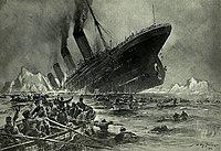 Ilustração do afundamento do Titanic por Willy Stöwer