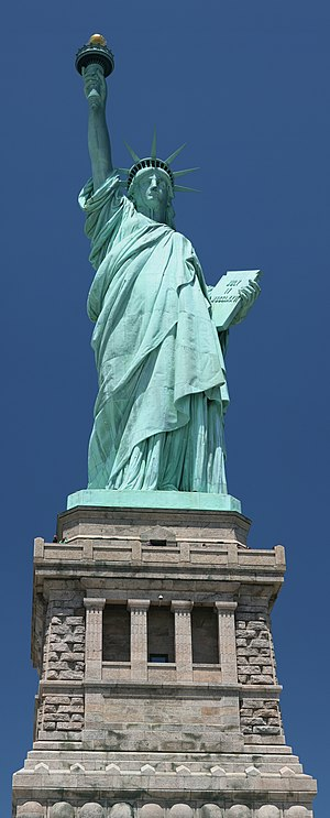 View of the Statue of Liberty from Liberty Island