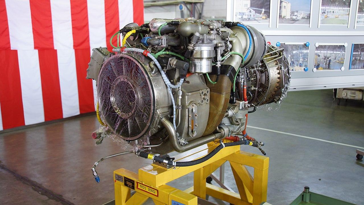 File T700 Ihi 401c Turboshaft Engine Left Front View At