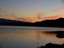 Abendstimmung am See Amitsorsuaq