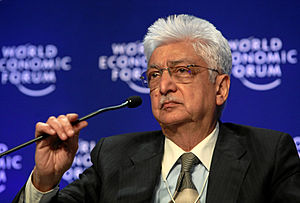 Azim Premji, chairman of Wipro, India, at the ...