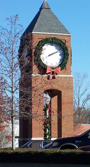 This is the clock tower that sits within Crest...