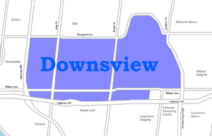 English: map of Downsview