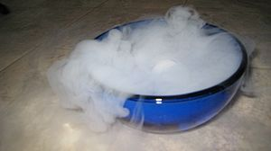 Fun with dry ice. We received a package today ...
