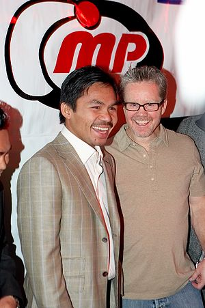 Freddie Roach and Manny Pacquiao at the Pacqui...