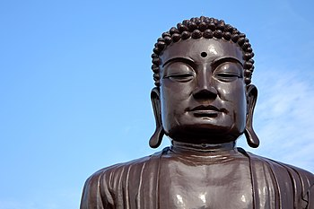 English: Detail view on the Great Buddha, Chan...