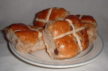 Hot cross buns. Note: these are square buns fr...