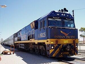 Indian Pacific Locomotive. Cook. SA