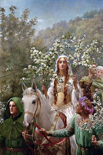 Queen Guinevere's maying, by John Collier, 1900
