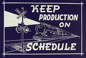 Keep Production on Schedule - NARA - 534497