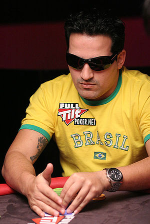 English: Brazilian poker player Leandro Brasa ...