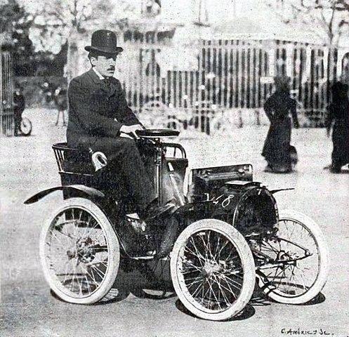 Louis Renault et sa Renault Type A