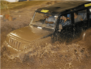 Mahindra Bolero Jeeps getting messy at APS 200...