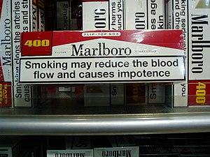 Marlboro warning impotence