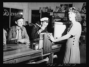 Truck driver, sailor, and waitress at a highwa...
