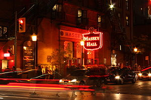 Massey Hall in Toronto, Ontario, Canada - at n...