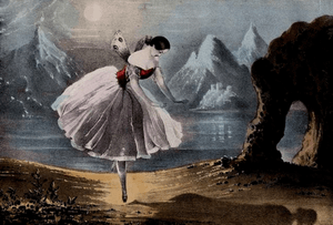 Lithograph of the ballerina Carlotta Grisi (18...