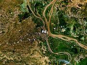 Satellite view of Phnom Penh