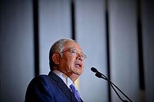 Najib addressing a crowd, 2012.