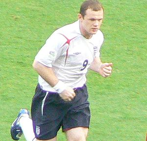 Rooney playing for England in 2006
