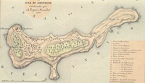 Map of the Isle of Anjediva Português: Carta p...