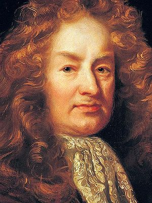 Detail of a portrait of Elias Ashmole