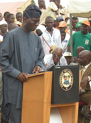 English: Governor Babatunde Raji Fashola, at t...