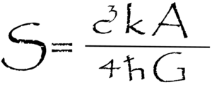 English: Black Hole Entropy equation